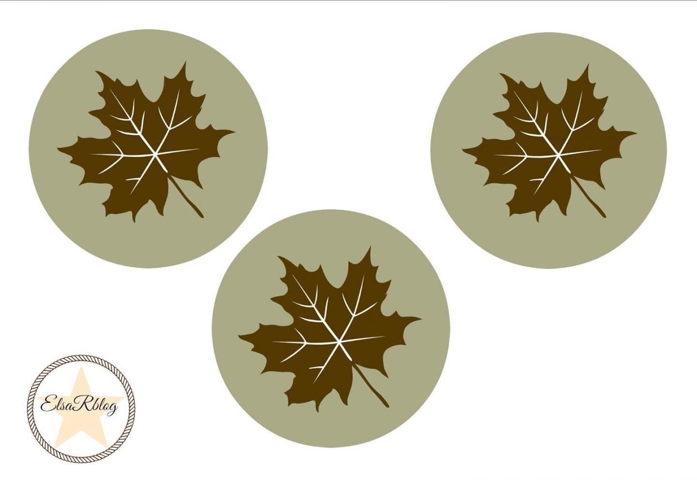 Druk op de foto, download (opslaan als) en print de free herfst onderzetters.