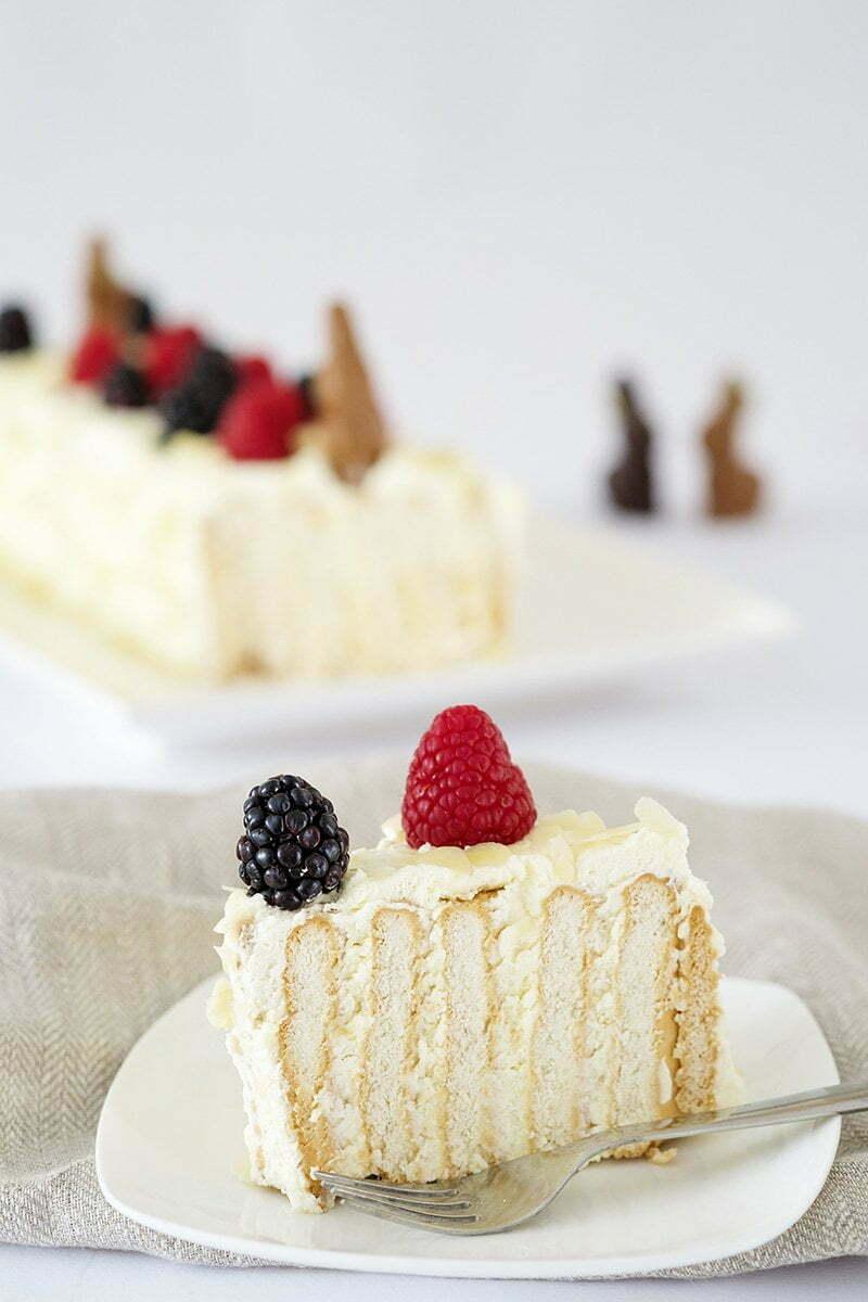 Deze no bake taart met Mascarpone is de basis voor deze no bake taart met koekjes.