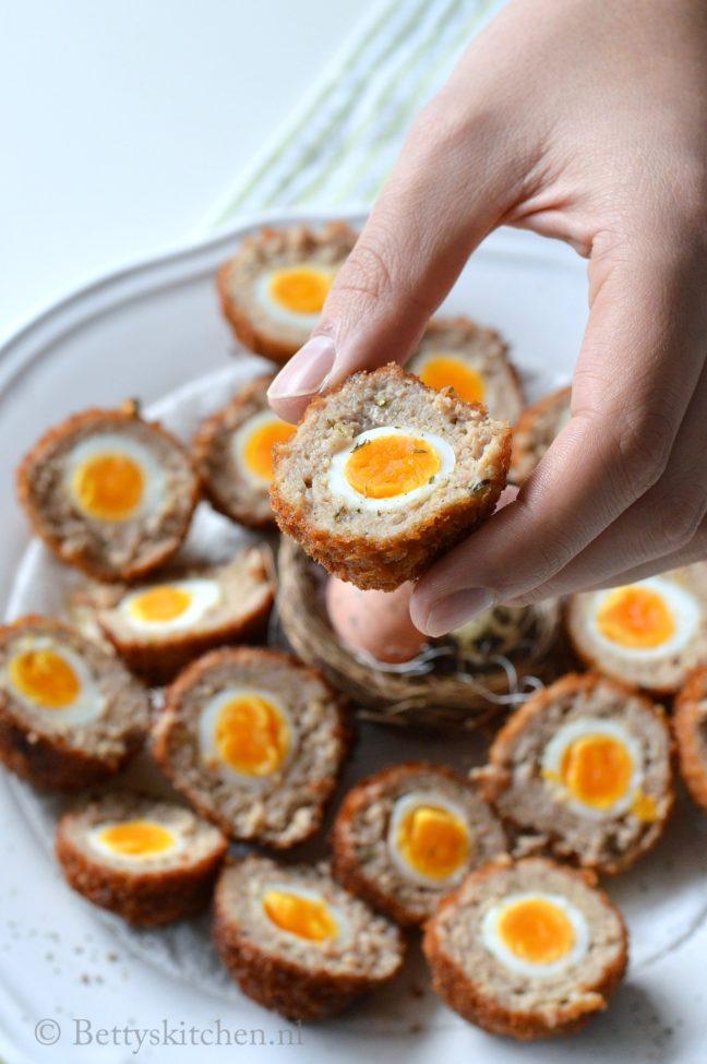gehaktballen met ei