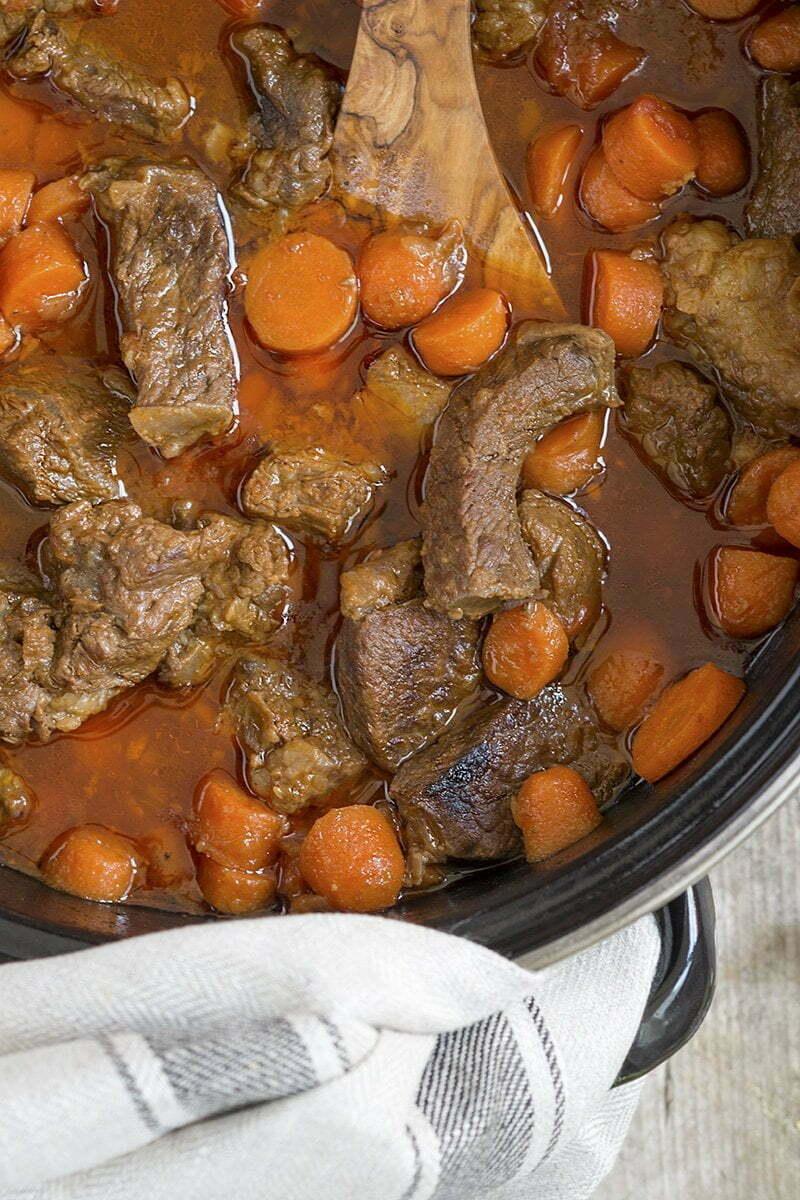 Stoofvlees met worteltjes