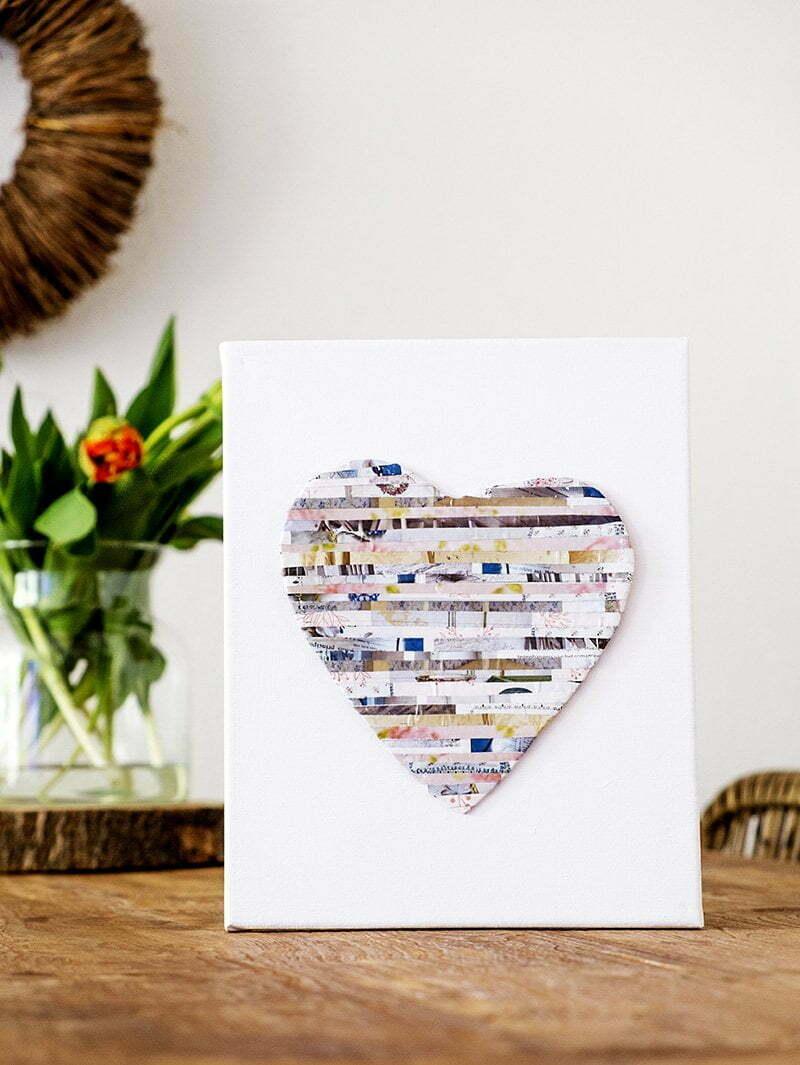 Hart maken met papier uit tijdschriften - Diy