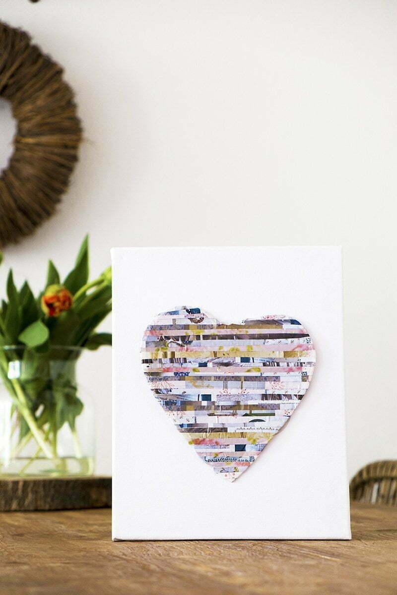 Hart maken met papier uit tijdschriften - recycling