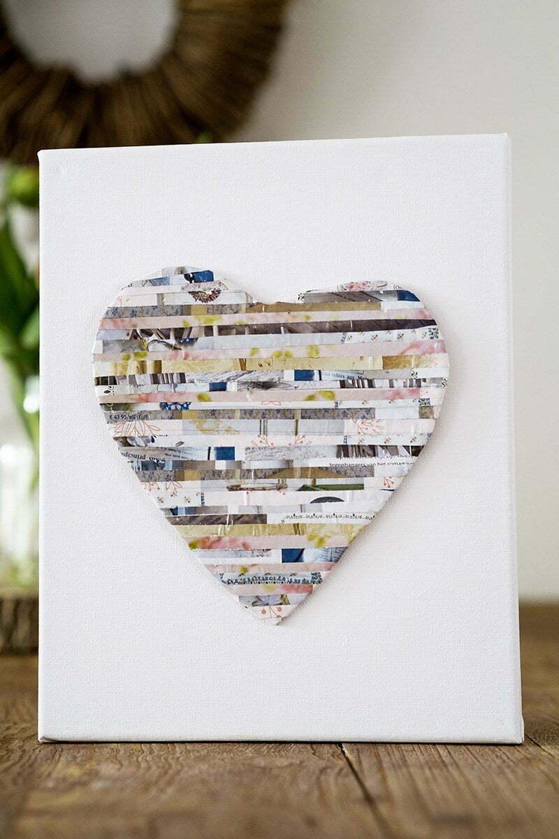 Hart maken met papier uit tijdschriften