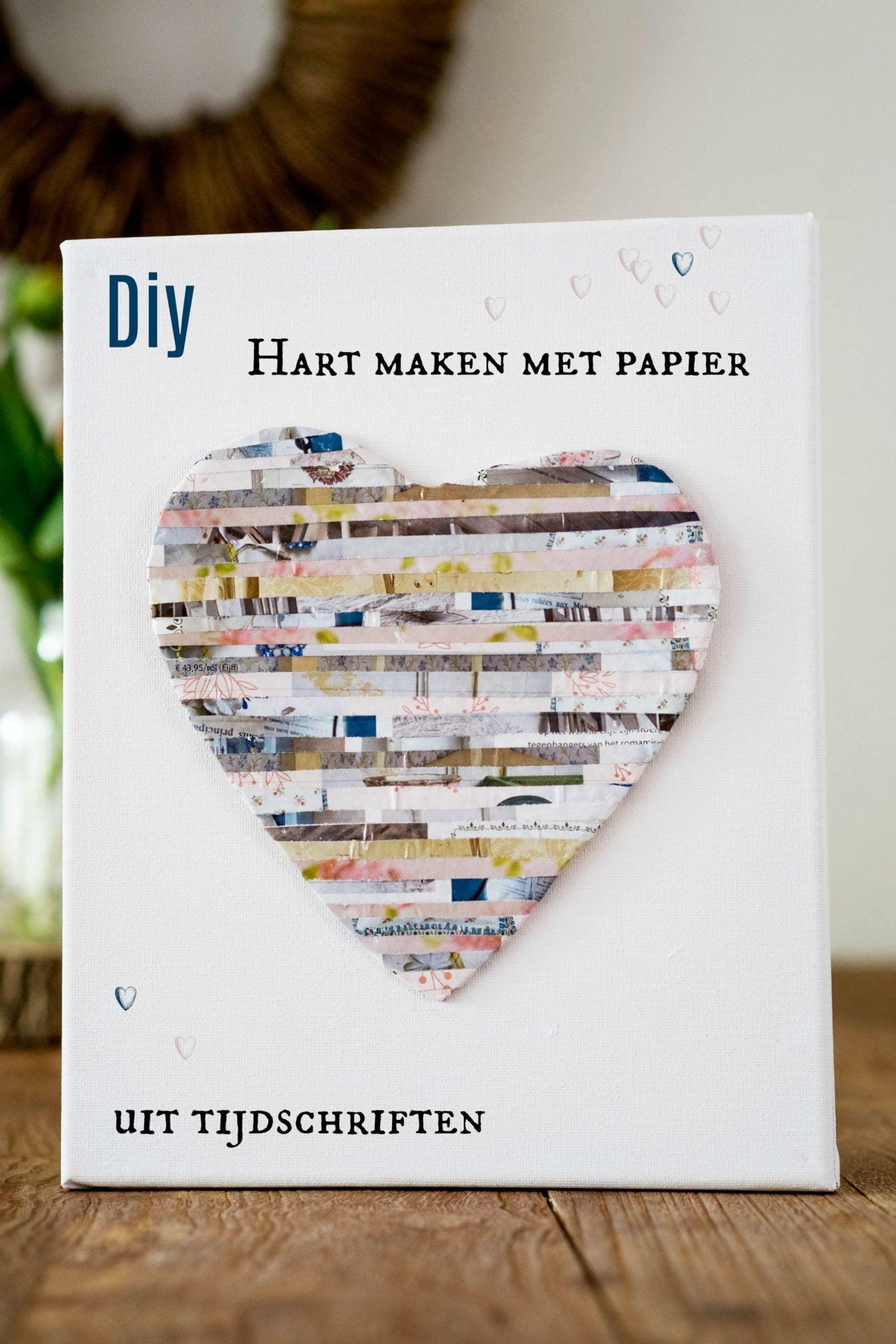 DIY: Hart maken met papier uit tijdschriften