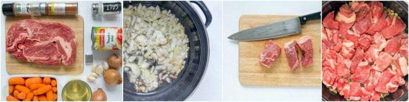 Stoofvlees met worteltjes - stap voor stap recept