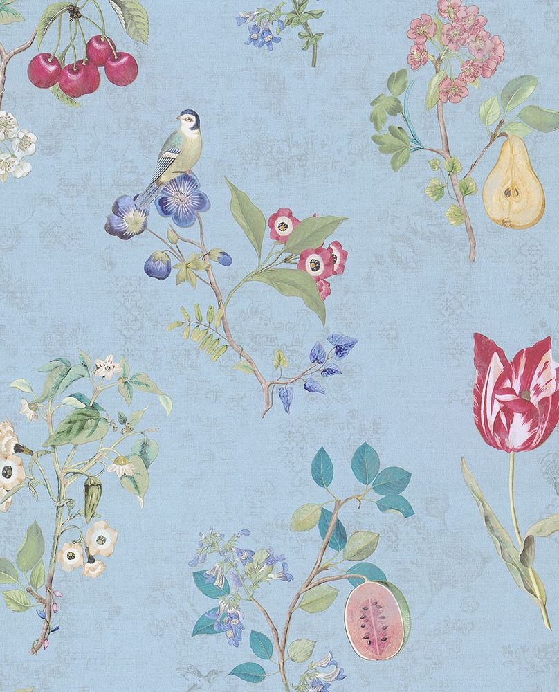 bloemen behang,Pip Studio IV - Cherry Pip Light Green