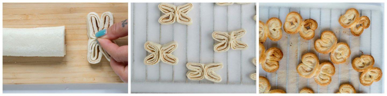 Bladerdeeg vlinders - stap voor stap foto's