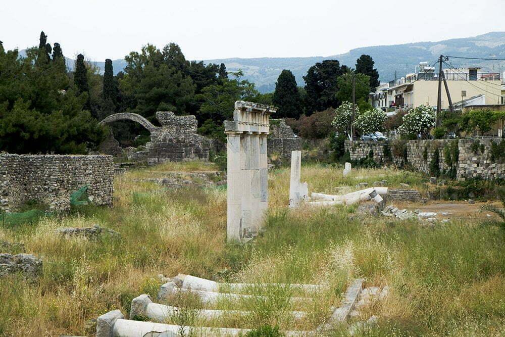 Oude ruïnes in Kos-Stad