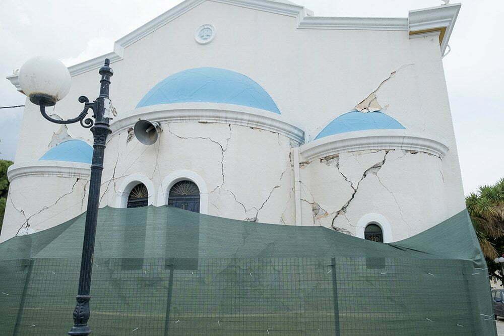 Kos-Stad, Griekenland (aardbeving is geweest)
