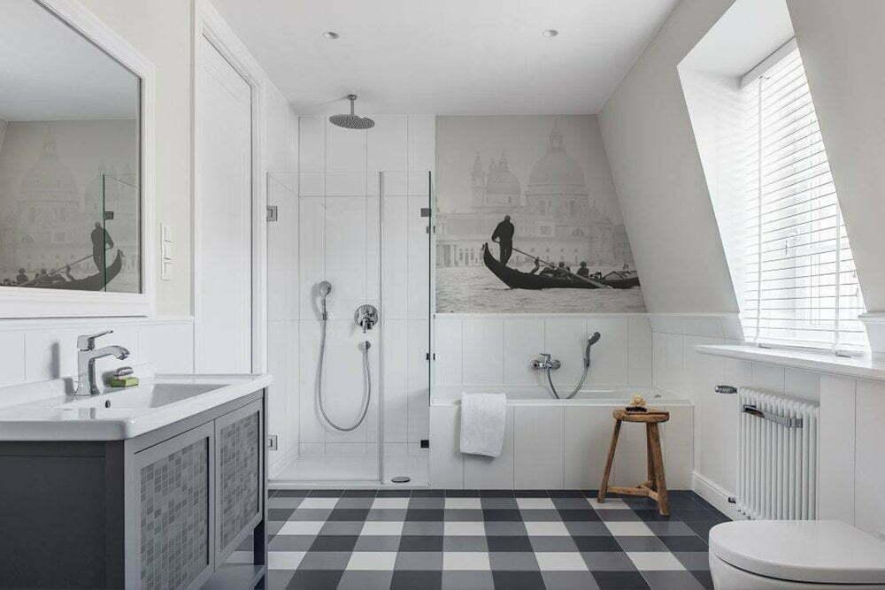 Fotobehang inspiratie voor badkamer. Venice