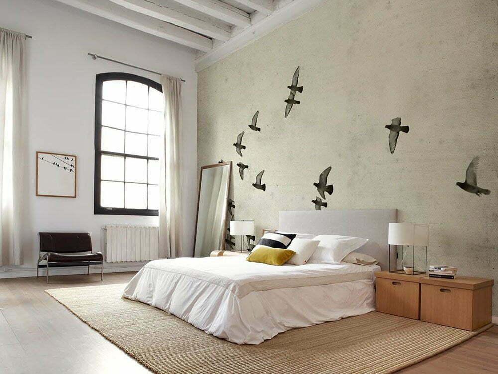 Fotobehang inspiratie voor de slaapkamer. Getextureerde oud papier achtergrond