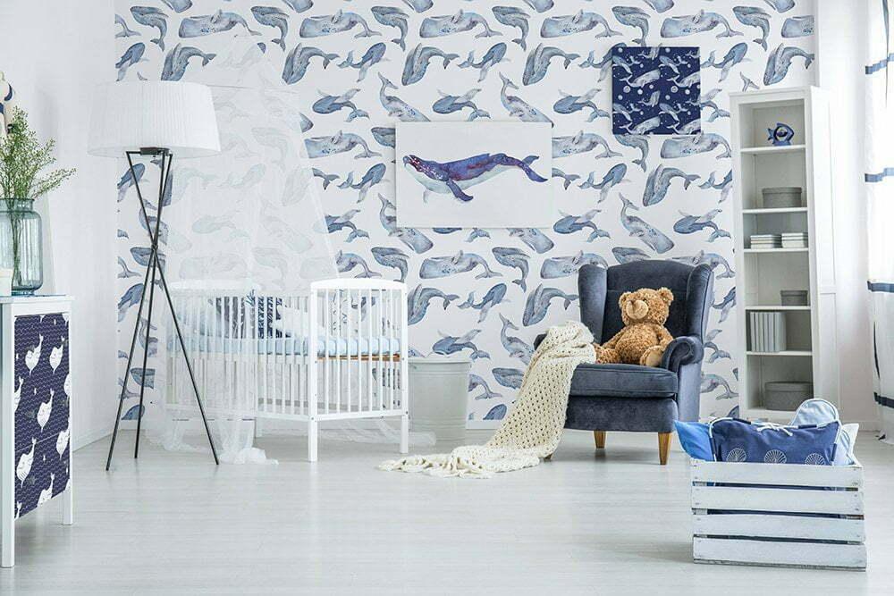 Fotobehang inspiratie voor babykamer, Zeeverhalen.