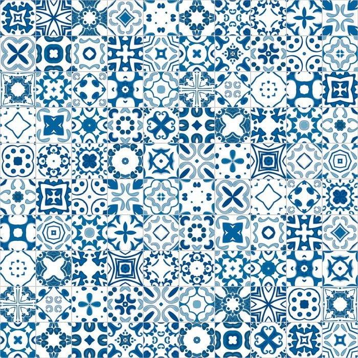 Fotobehang inspiratie voor de keuken.Portugese tegels.