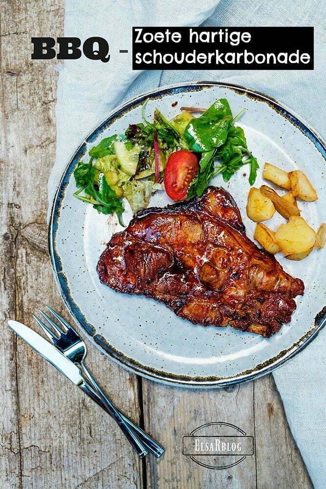 Zoete hartige schouderkarbonade voor op de BBQ - Hoofdgerecht