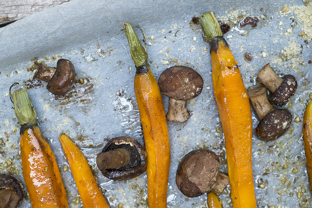 wortels uit de oven