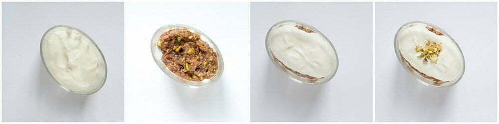 Dessert met verse vijgen en pistaches : stap voor stap foto's.