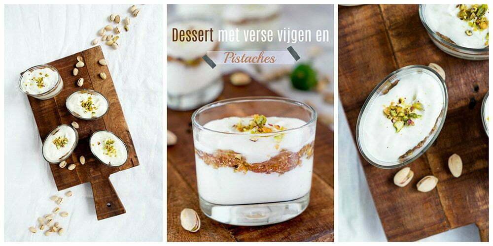 Dessert met verse vijgen en pistaches