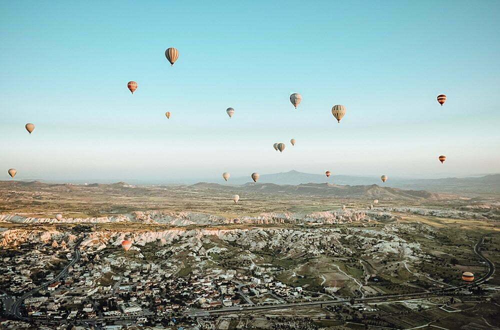 luchtballon in Cappadocië