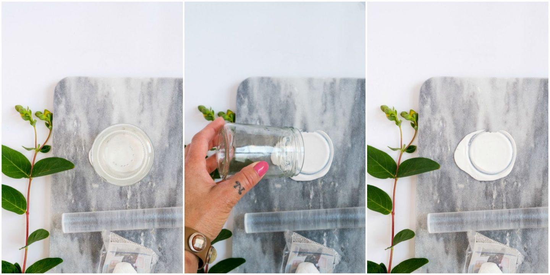 Diy potjes met een deksel van klei, stap voor stap foto's.