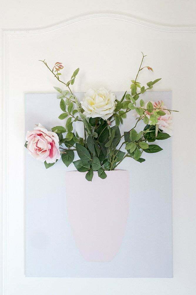 Diy: een bos bloemen op canvas.