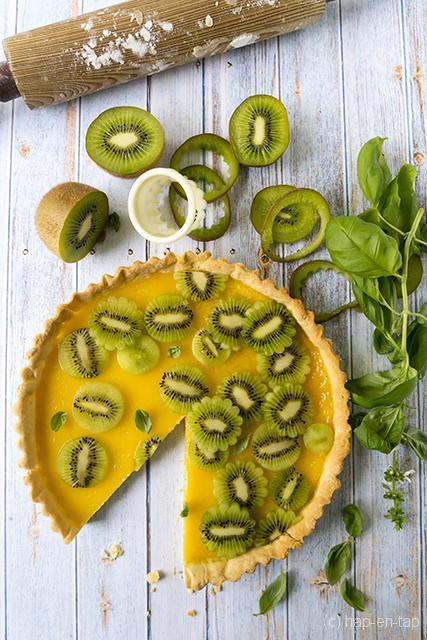 Friszure lentetaart met citroen en kiwi *hap-en-tap.be