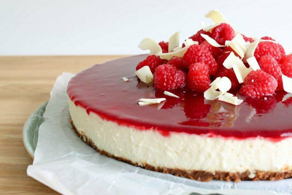 Witte chocolade cheesecake met Bastogne & frambozen