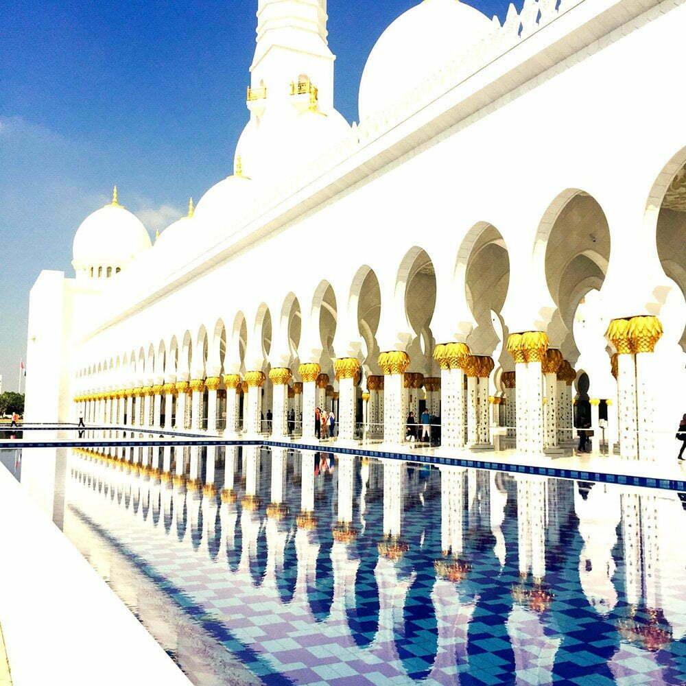 moskee: van deSjeik Zayed-moskee in Abu Dhabi