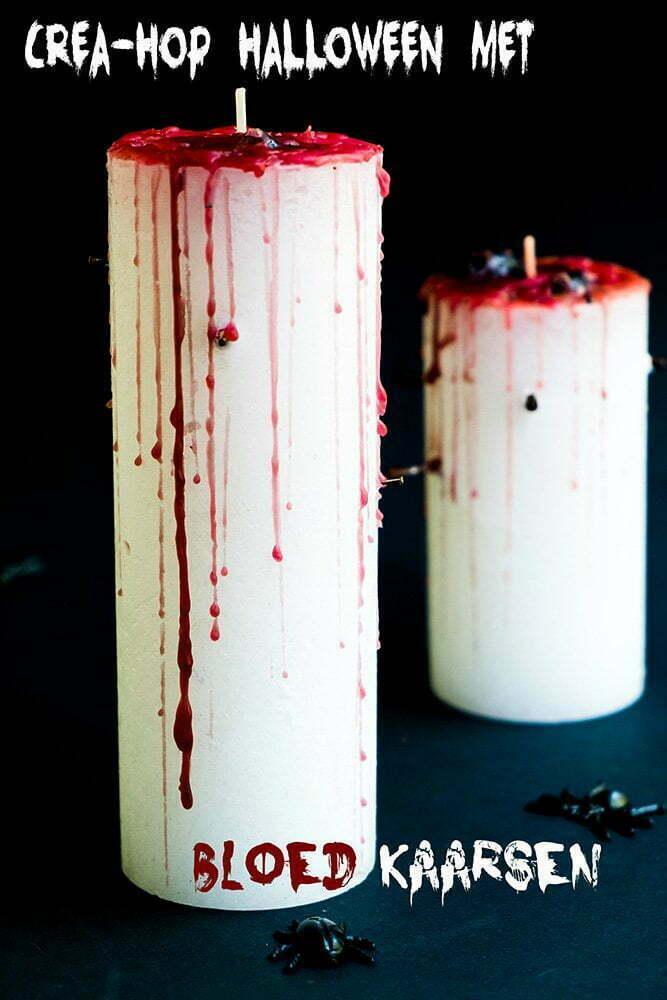 Crea-hop Halloween met bloed kaarsen