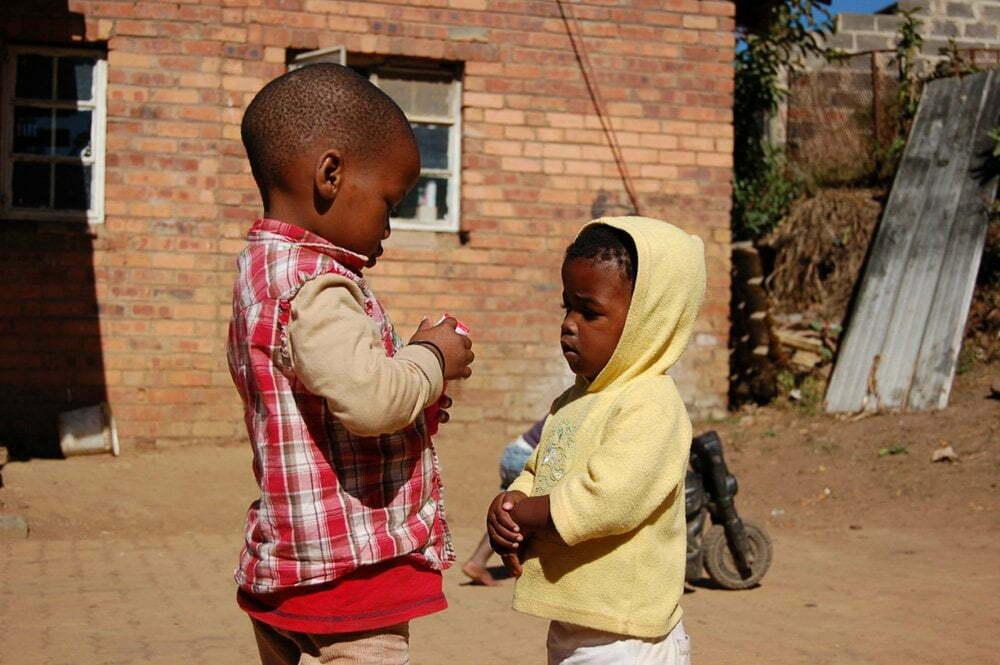 Zuid-Afrika, straatjongens