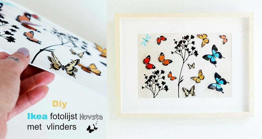Ikea fotolijst Hovsta met vlinders