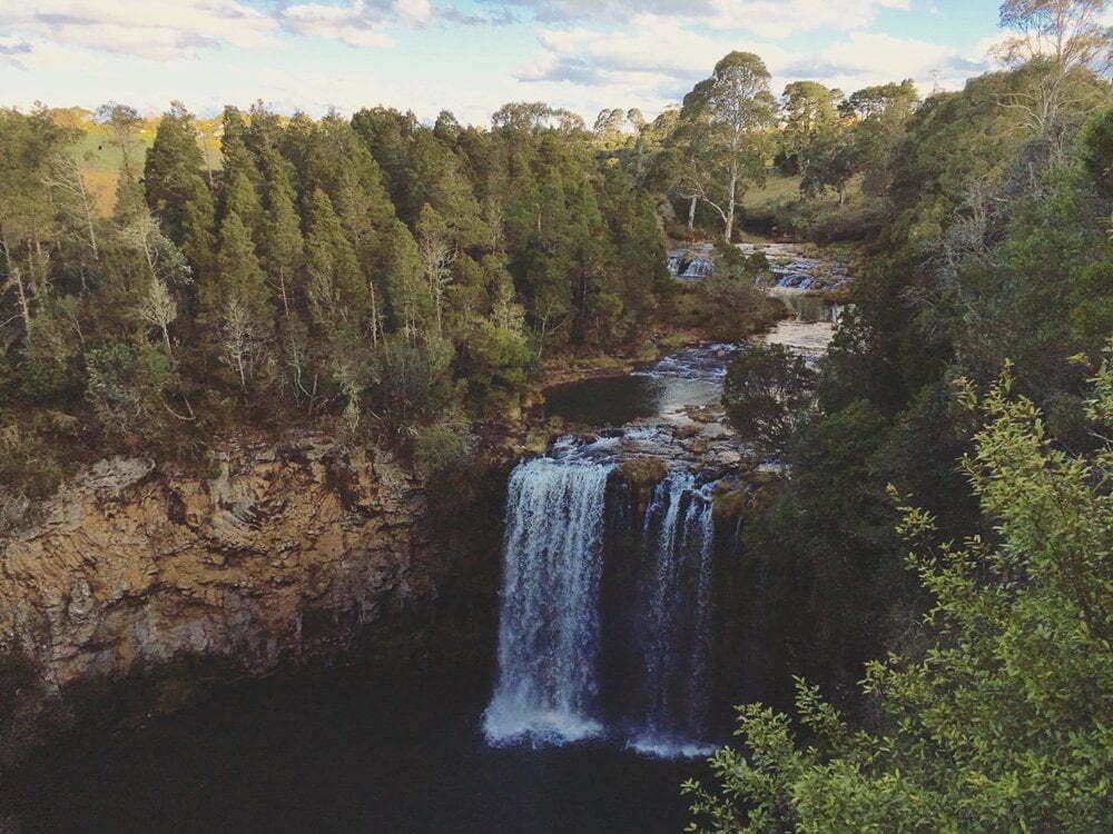 Wat is jouw mooiste foto die jij op vakantie heb gemaakt? Australië, immense waterval in de buurt van Dorrigo National Park