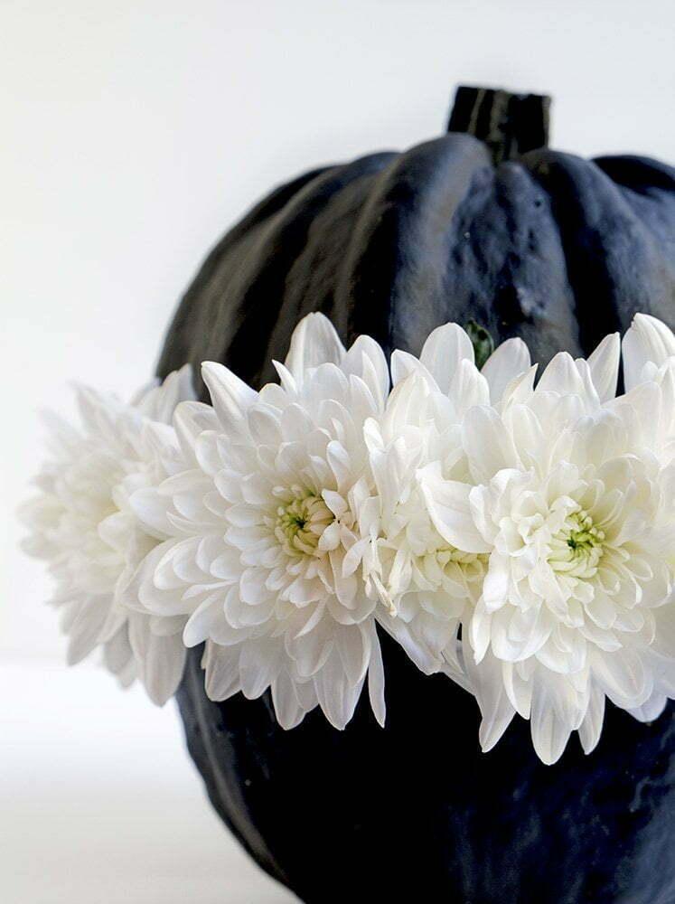 Pompoen met bloemen - Diy