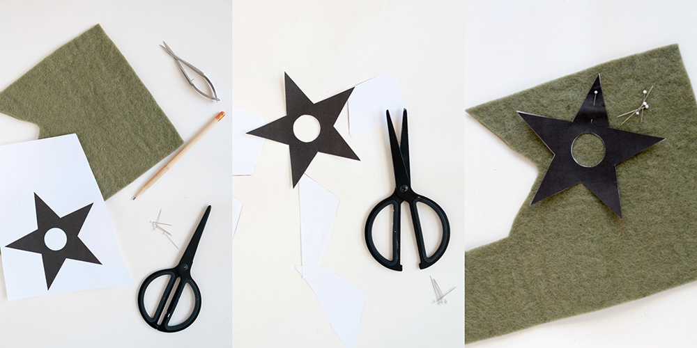 stap voor stap foto's: Servetten versieren voor de kerst