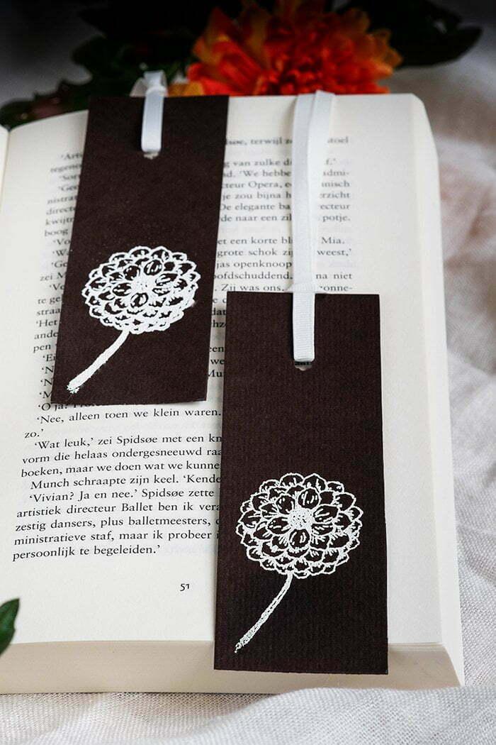 Hoe maak je boekenleggers met stempels - Diy
