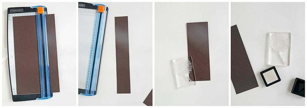 stap voor stap foto's: Hoe maak je boekenleggers met stempels