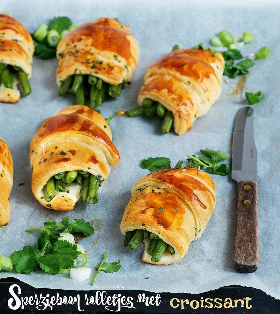 Sperzieboon rolletjes met croissant – Bijgerecht
