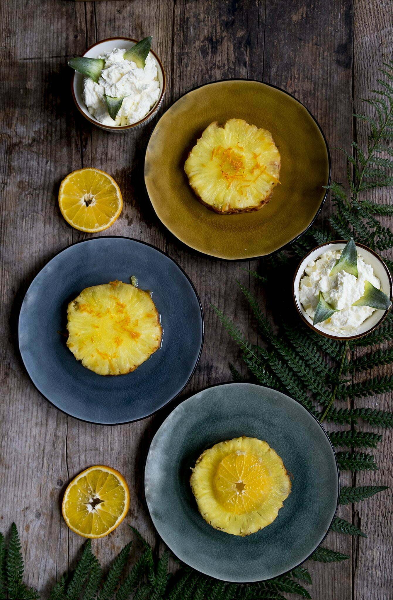 Geroosterde ananas in de oven met kaneel - Recept uit Portugal