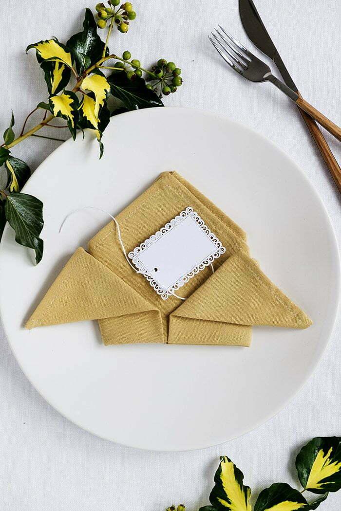 Servet vouwen voor een diner - Tafel dekken