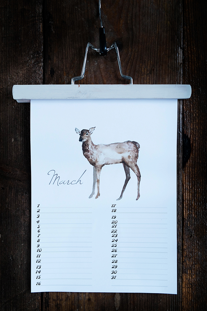 Free Birthday Calendar (verjaardagskalender) – nr. 3 March