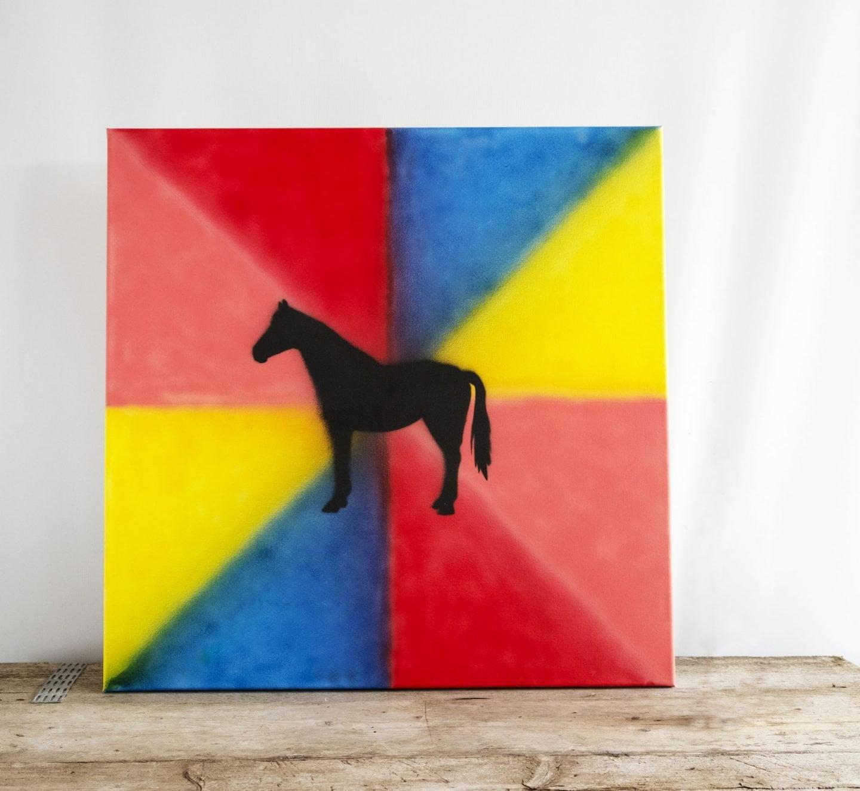 Sjabloon op canvas met Airbrush - Uitleg