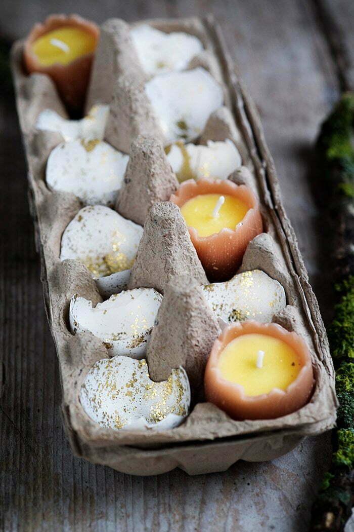 Eieren met glitters voor Pasen - Diy