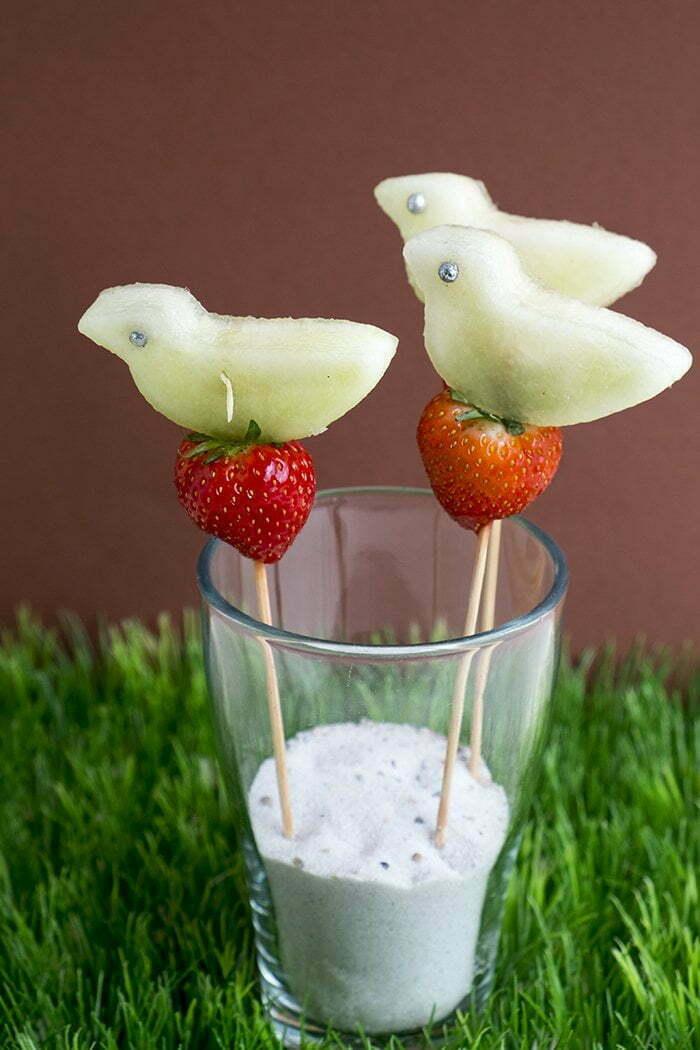 Fruit vogels met meloen