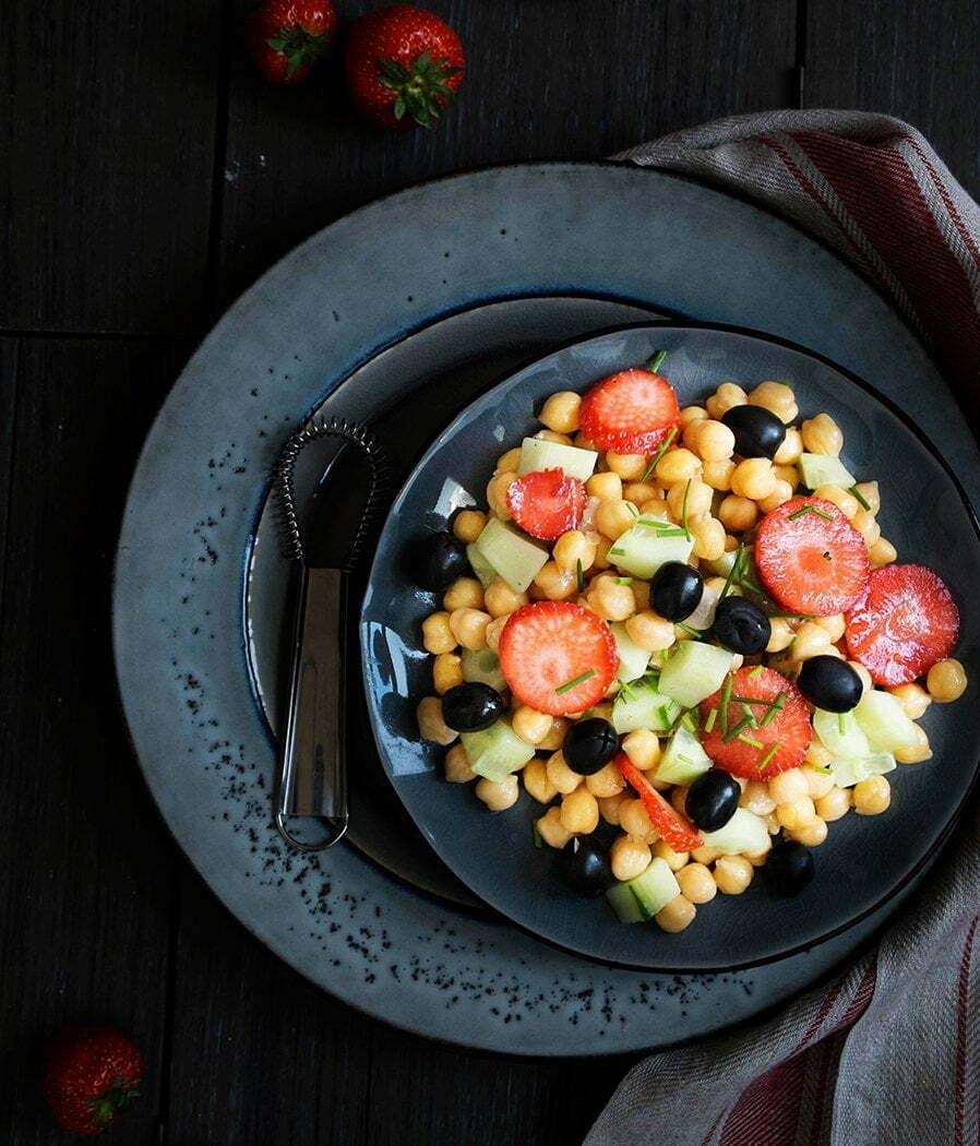 Zomer salade met appelazijn dressing - Recept