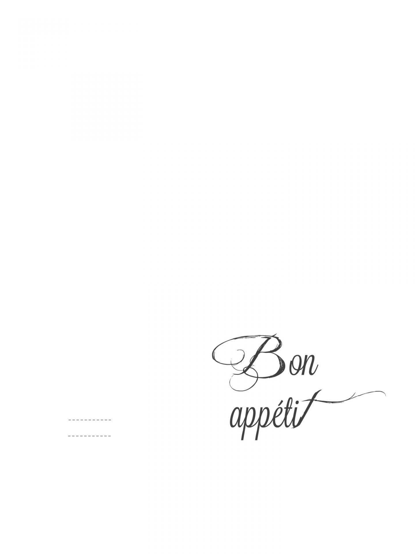 free printable Bon appétit