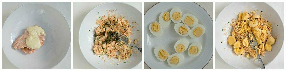 recept: Gevulde eieren met zalmsalade à la mama