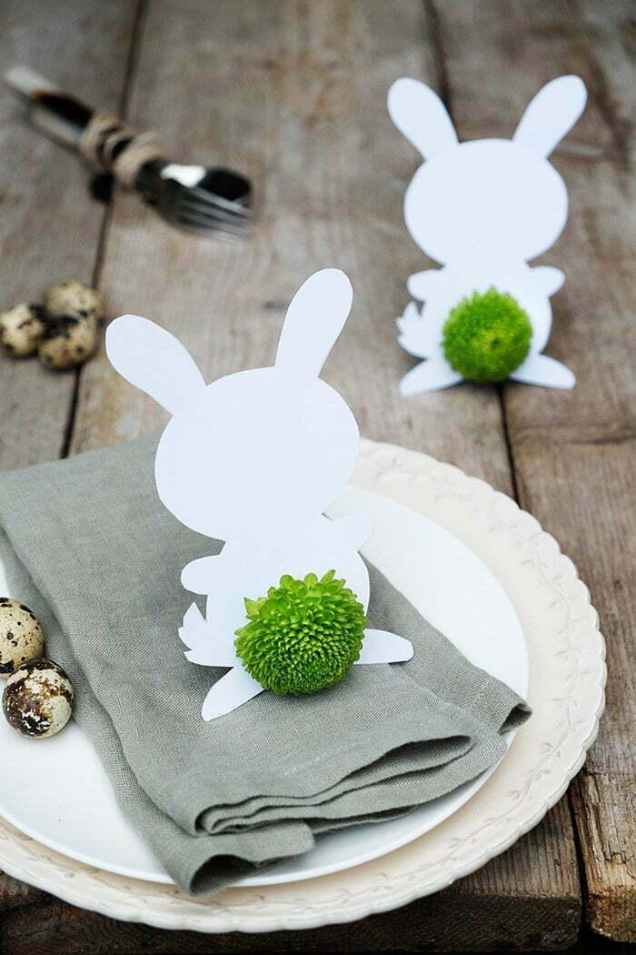 Zelfgemaakte Paasdecoratie voor op tafel