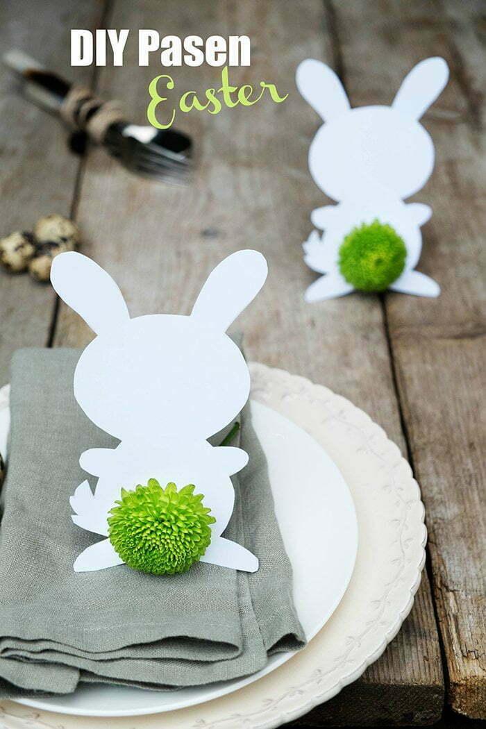 Zelfgemaakte Paasdecoratie voor op tafel - Diy