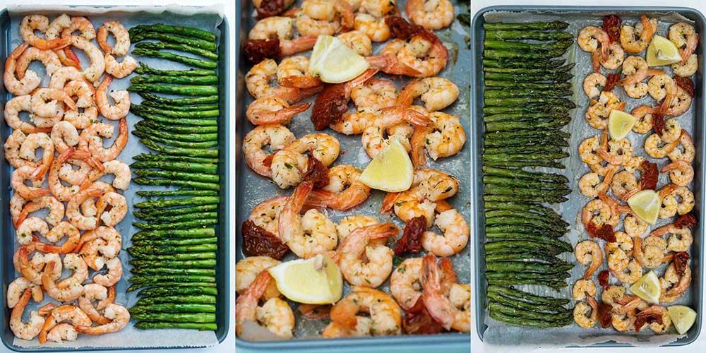Garnalen met asperges in de oven - Recept voor Koningsdag, kerstdiner, Paasdiner.