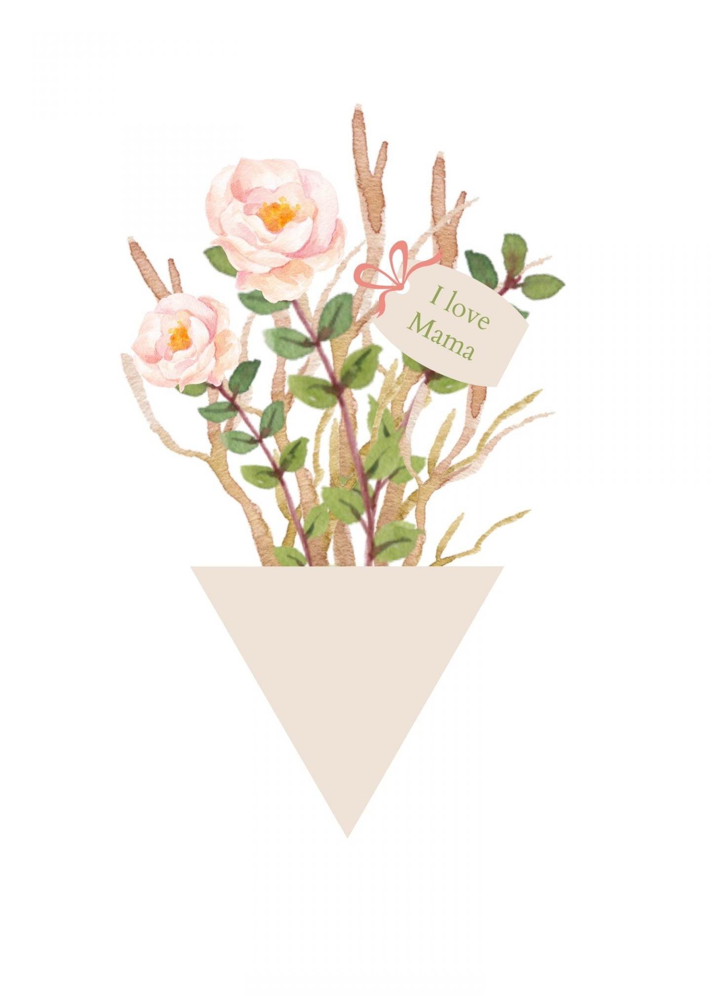 A4 bloemen voor Moederdag ElsaRblog