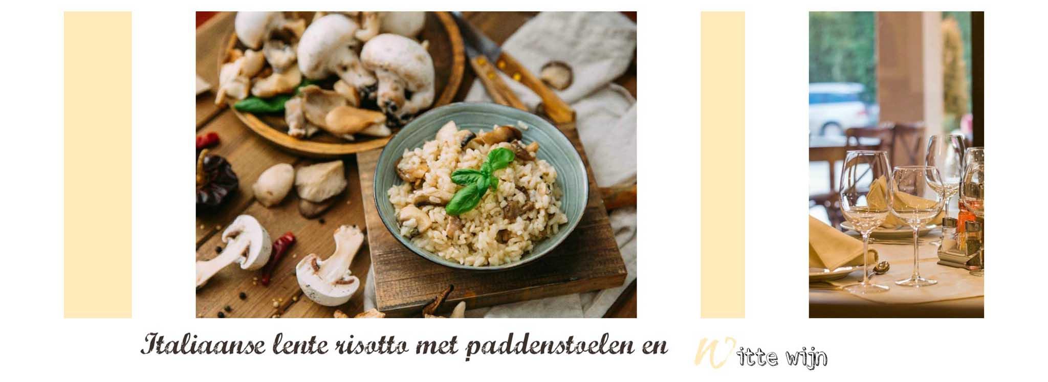 Gastblog van wijnvoordeel.nl Italiaanse lente risotto met paddenstoelen en witte wijn.